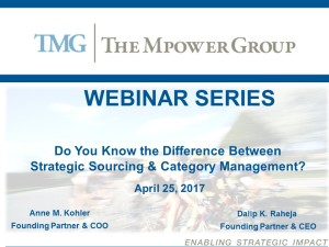 Strategic Sourcing vs. Category Management 4.25.17